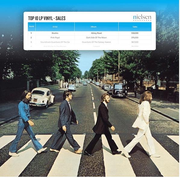 Abbey Road, el vinilo más vendido de la década que pasó